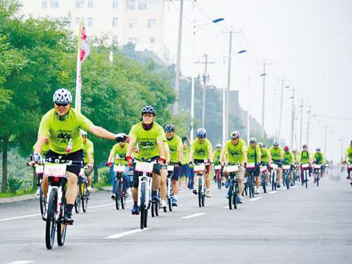城市自行车骑行风景