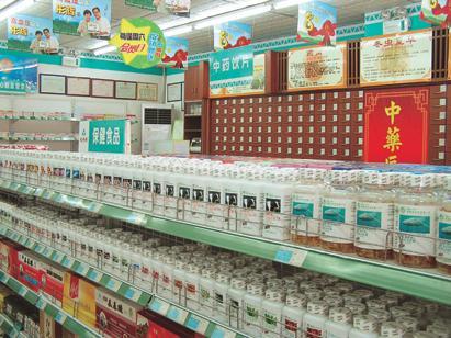 药店空盒简单陈列造型 图片_药店商品陈列造型图片分享