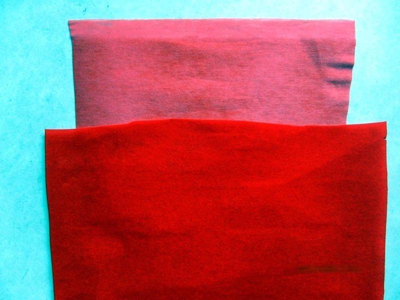 大红色植绒布