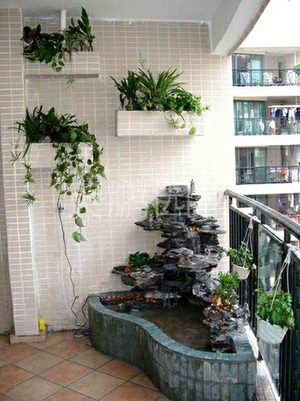 阳台园林景观假山水景工程
