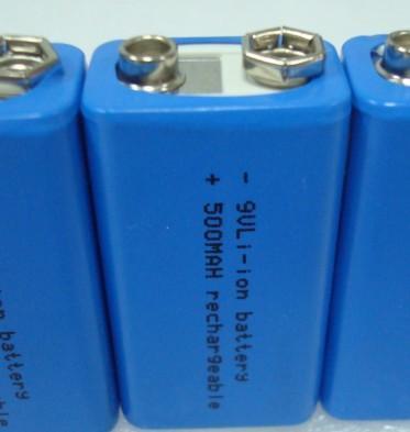 9v 500mah方形锂电池图片