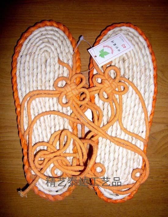 中国结凉鞋编织图案