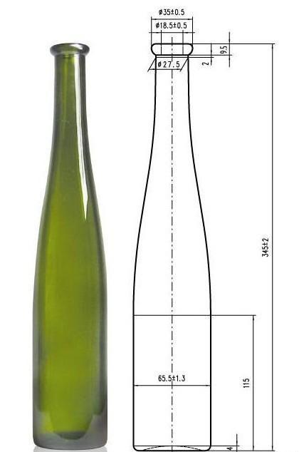酒瓶日用品传输和包装玻璃包装瓶03375ml报刊古典绿冰用品轻工岗亭图片