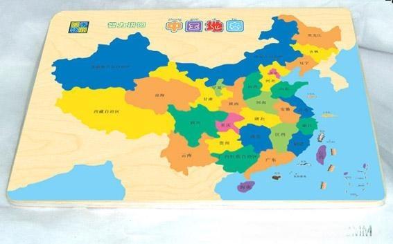 木制中国地图拼图(tj-p001)