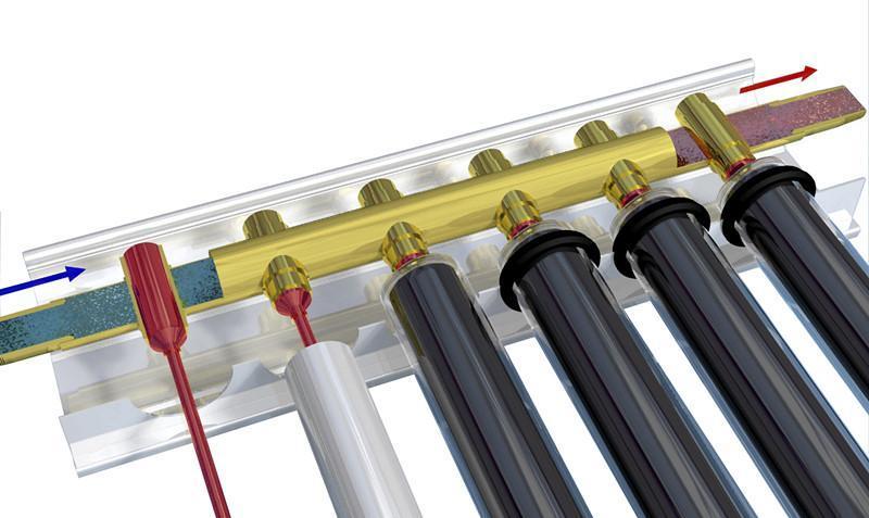 热管真空管集热器