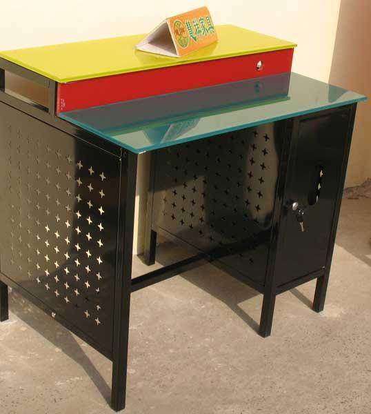 绿玻璃电脑桌拼装步骤图