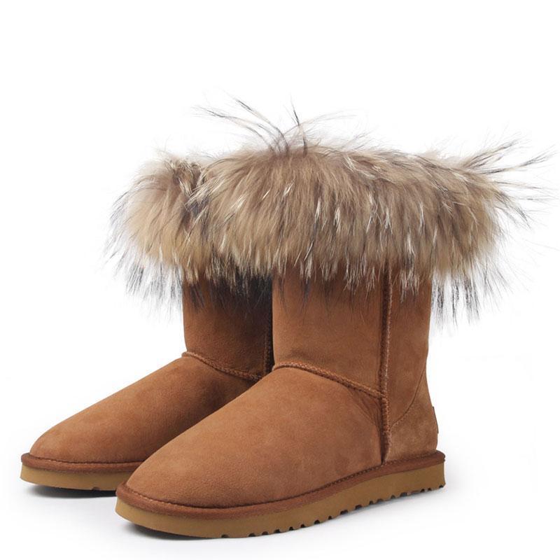 牛皮癣的初期囹�a_保暖时尚羊皮毛一体雪地靴(dy-8625)