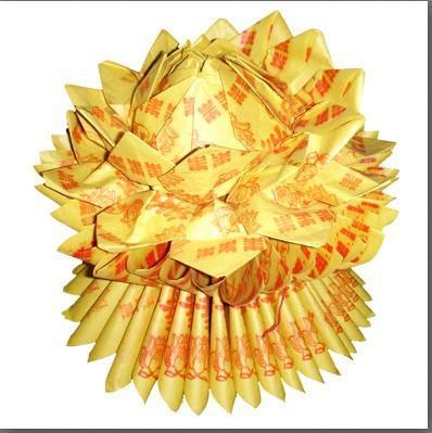 蓮花元寶的折法圖解