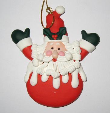 软陶工艺品 -圣诞挂件-06