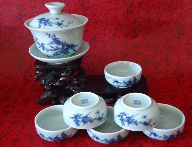 景德镇手绘茶具 景德镇青花瓷手绘茶具 景德镇青花瓷手绘茶具套装图片