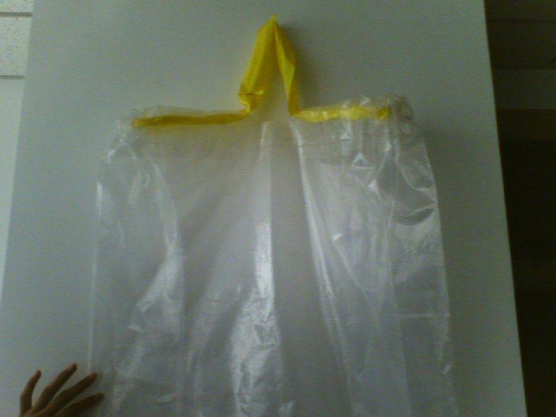 飞机带液体的袋子