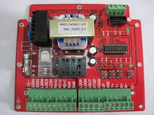9道闸控制板采用电磁感应霍尔器件进行行程控制
