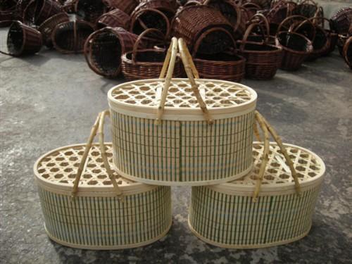 产品目录 工艺品 工艺篮筐 03 竹编鸡蛋篮   订货量(件) 价格(元/件