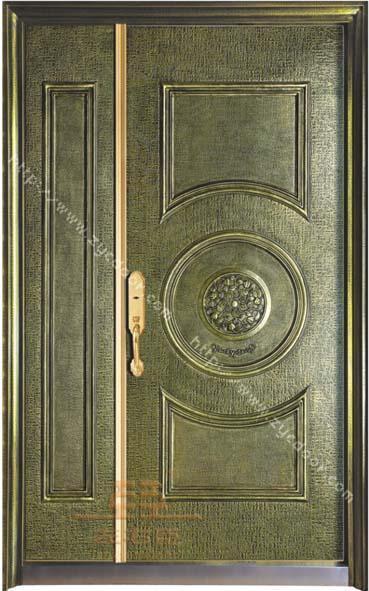金钢铸铝板雕别墅门