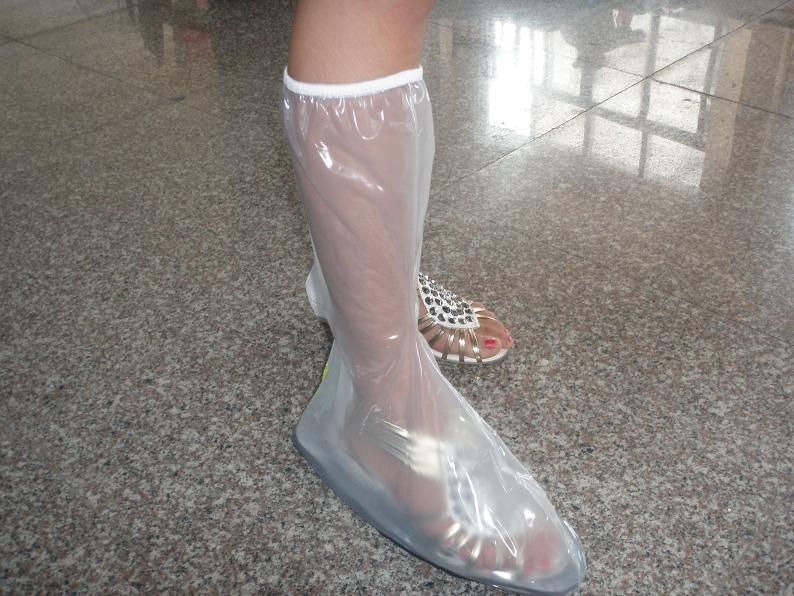 女式高档透明防雨鞋套(h-305)