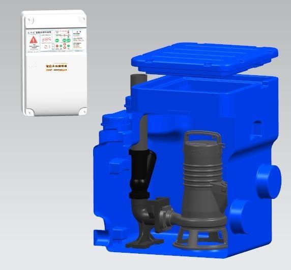 LIFTS180污水提升器   LIFTS180污水提升器是我們爲別墅類單個住宅設計的集污水收集、存儲和提升爲一體的專用污水處理系統。   LIFTS180污水提升器配有180L的集水箱,具有多個進水口,配置一臺水泵,自動耦合安裝,低噪音,結構格外緊湊,在最小的空間內可以使用。   LIFTS180污水提升器可用於收集廁所排泄物,淋浴,洗手盆,洗衣機等得液體,並泵送至主排污系統。也可用於空調冷凝水的收集,並泵送至排水系統。   LIFTS180污水提升器內水泵和相應管路已經連接完好,控制單元也可正常工
