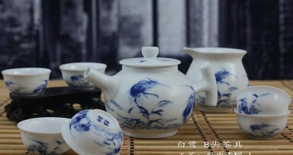 景德镇青花瓷手绘茶具图片