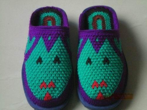 毛线鞋編織花样图纸