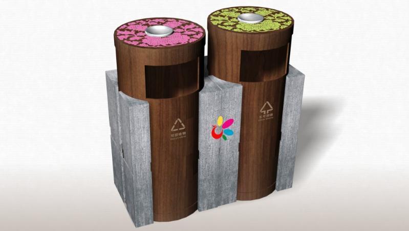 垃圾桶设计生产图片