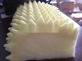 精品波浪海綿 高密度高軟海綿加工定製廠家