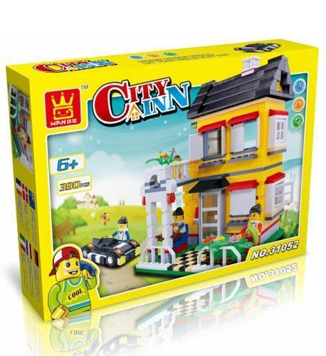 儿童益智拼装积木玩具-复式别墅31052