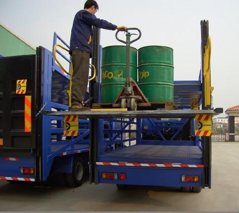 汽车液压升降尾板 固定式卸货平台 流动式垃圾压缩站图片