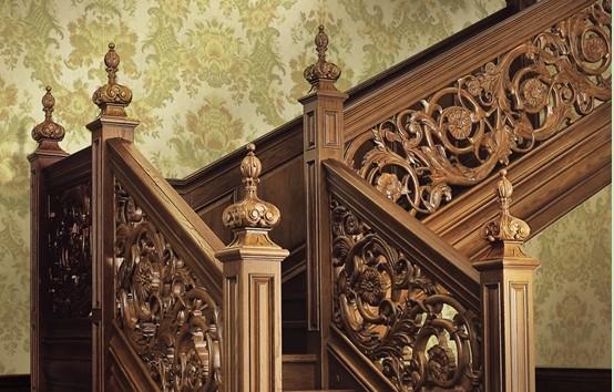 美式古典楼梯图片