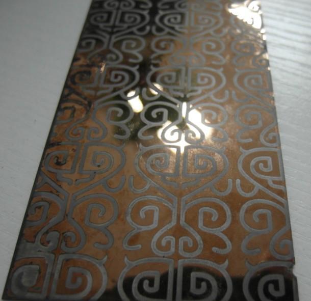 钛金镜面蚀刻花纹电梯不锈钢板