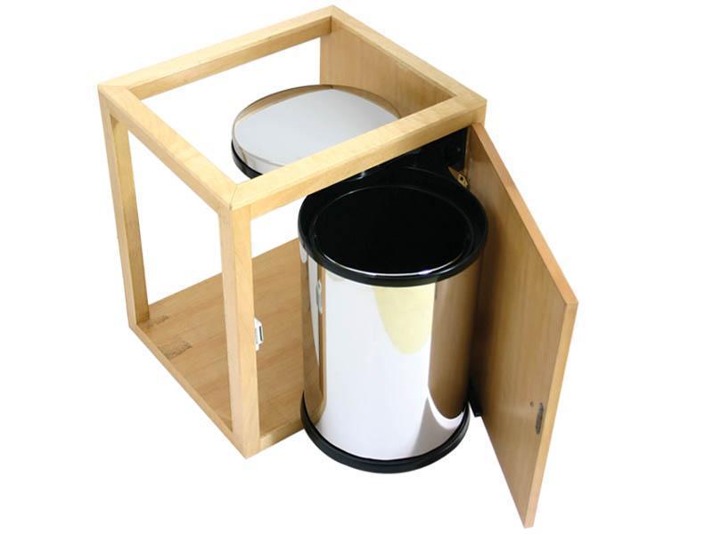 10升不锈钢柜式垃圾桶(blq1200r)