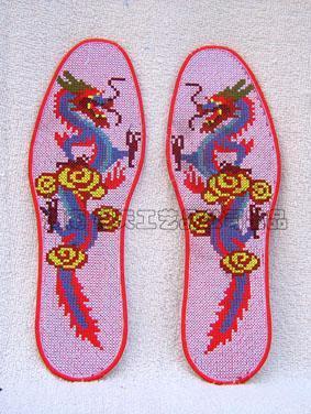 十字绣花鞋垫-2