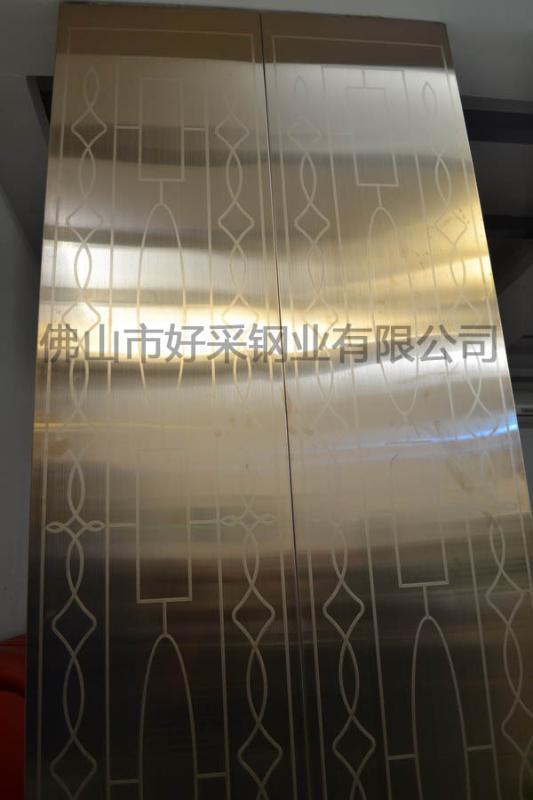 316材质不锈钢电梯厅门图片