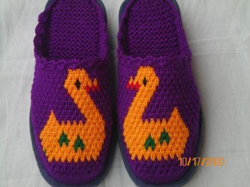 毛线拖鞋图案带后跟_高清钩毛线 拖鞋图案 带后跟 ...