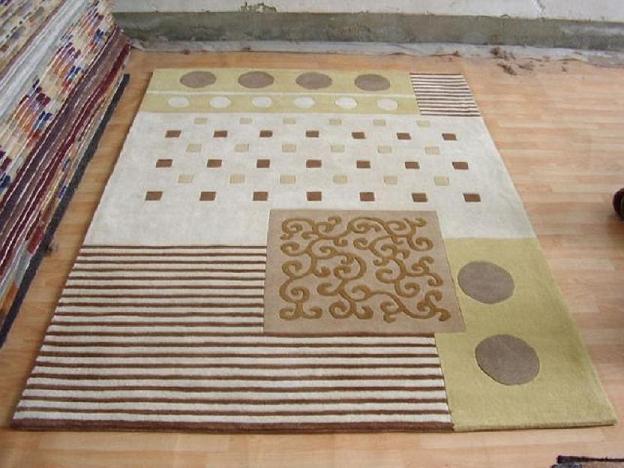 手工针刺地毯编织方法图片