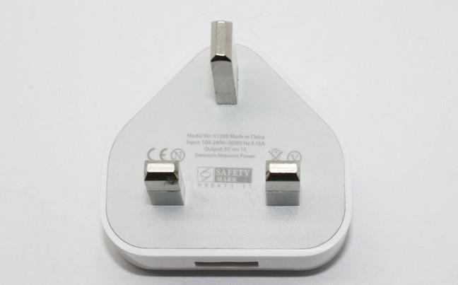 【产品名称】iPhone4/5英规充电器【产品介绍】输入:100V-240V频率:47-63Hz输出电压:5V输出电流:1A外形尺寸:47*44*37mm规格:英规产品材质:ABS防火材料相容型号:iPhone所有型号版本(iPhone,iPhone3G,iPhone3GS,iPhone4)iPod所有型号版本(iPodTouch,iPodVideo,iPodClassic)注:买家必读1.