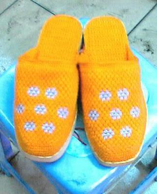 织棉鞋花样图纸
