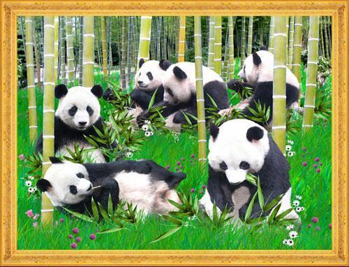 豆贴画熊猫图片大全