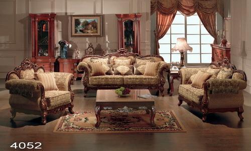 欧式古典布艺沙发(4052)