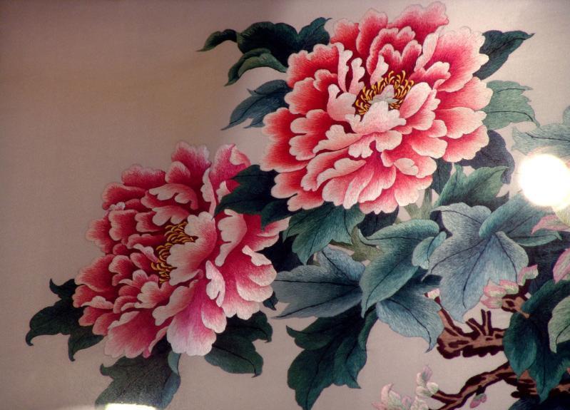凤凰牡丹刺绣素材