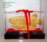 廠家直銷絨紗金金龍魚擺件、仿琉璃招財金龍魚、立體樹脂辦公擺件系列