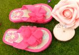 【廠家直銷】夏季女童公主卡通人字拖 室內拖鞋 防滑軟底耐磨夾拖
