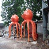 章魚雕塑 玻璃鋼卡通雕像 海陵套模擬大型章魚小品擺件定製
