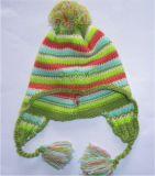 晴綸間色嬰兒護耳帽