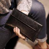 2016韓版新款長款女士錢包時尚軟皮錢夾簡約超薄款翻蓋信封包