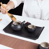 德化陶瓷幹泡茶具一壺兩杯家居日用陶瓷茶具 陶瓷茶盤千禹