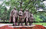 漢博雕塑鑄銅玻璃鋼雕塑革命偉人雕塑抗戰紅軍飛奪瀘定橋人物雕塑