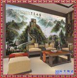 中式玄關陶瓷大型壁畫 電視背景牆客廳裝飾畫 純手繪定製