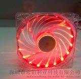 廠家直銷8025透明LED直流風扇