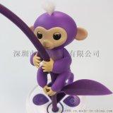 指尖猴崽電子寵物,創意兒童玩具手指猴 觸摸感應指尖玩具 多彩手指猴