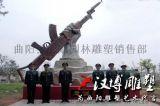 漢博雕塑玻璃鋼鑄銅雕塑中國現代武警軍人雕塑城市景觀雕塑