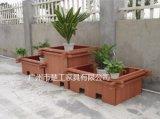 戶外塑木花箱 工程木塑組合花槽 園林花盆